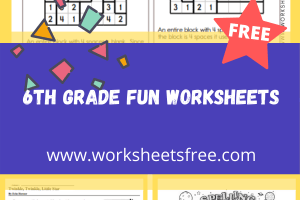 6th grade fun worksheets