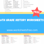 6th grade history worksheets