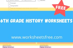 6th grade history worksheets