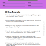 6th grade writing worksheets 10