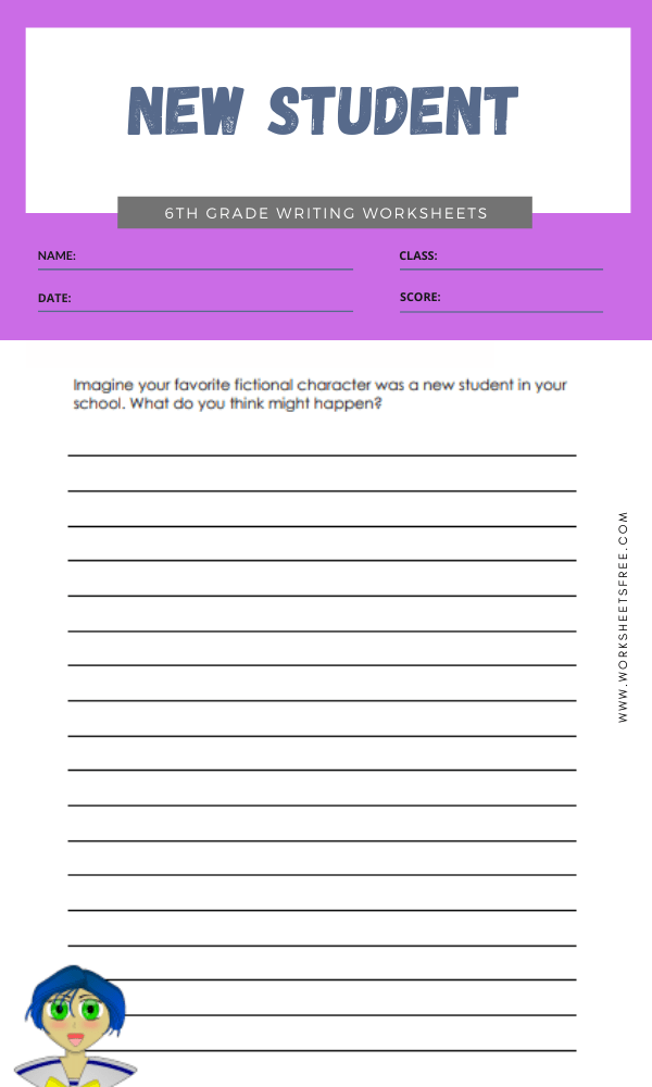 6th grade writing worksheets 9
