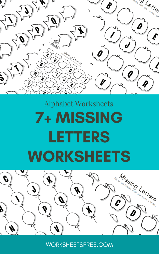 7+ Missing Letters Worksheets