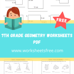 7th grade geometry worksheets pdf
