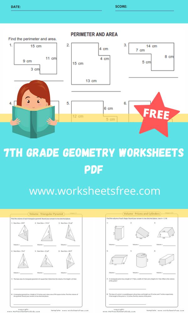 7th grade geometry worksheets pdf