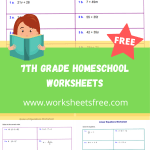 7th grade homeschool worksheets