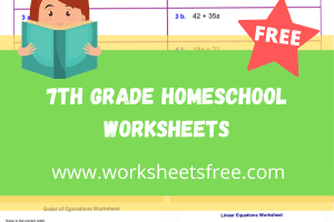 7th grade homeschool worksheets
