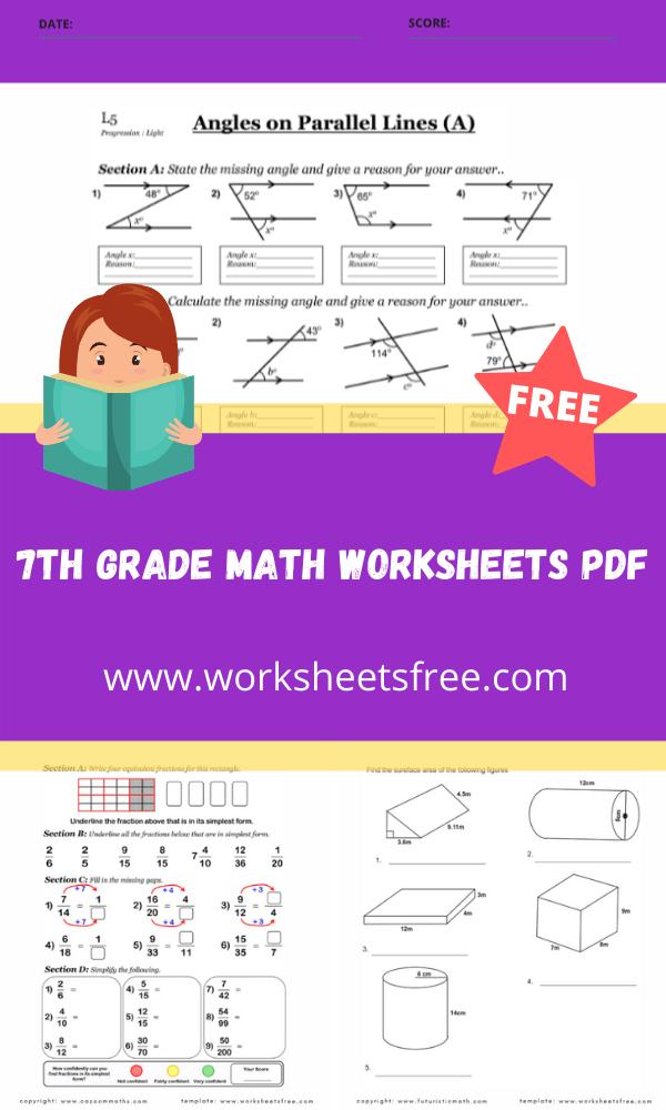 7th grade math worksheets pdf