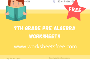 7th grade pre algebra worksheets
