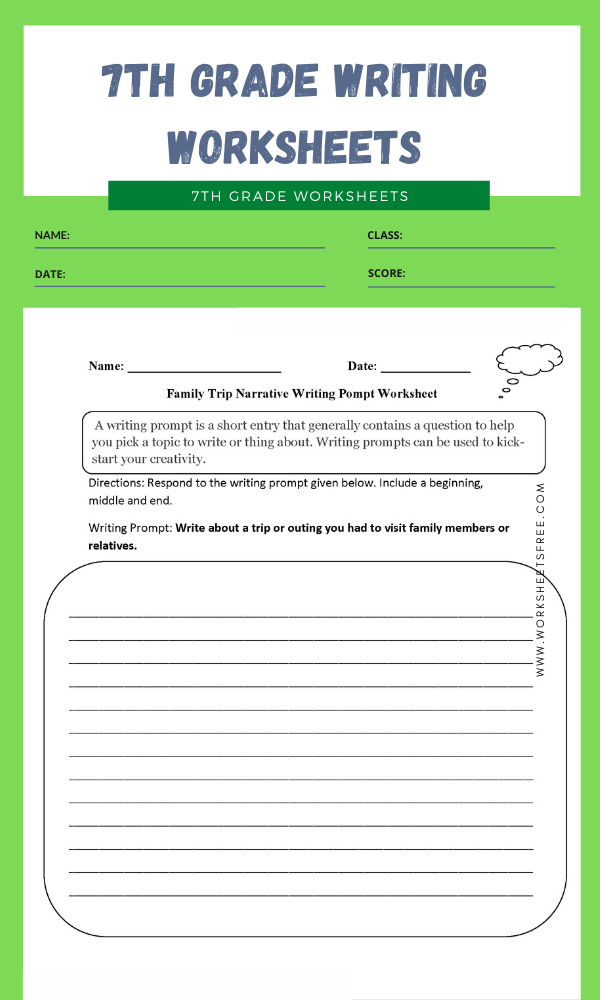 7th grade writing worksheets 4