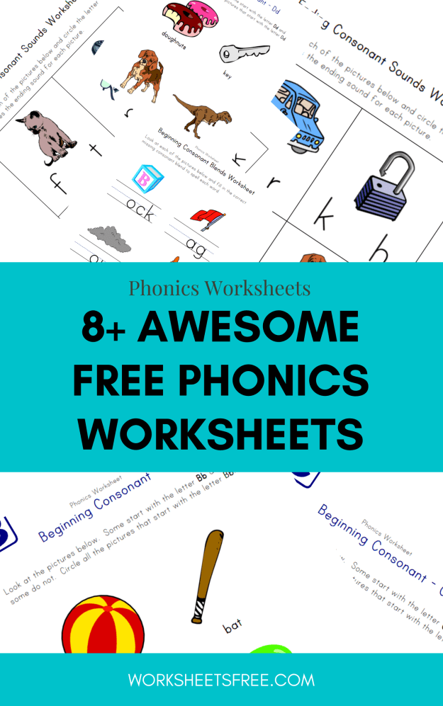 8+ Awesome Free Phonics Worksheets