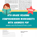 8th grade reading comprehension worksheets with answers pdf