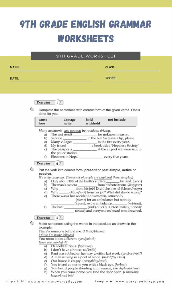 Verb Worksheets Worksheets Free