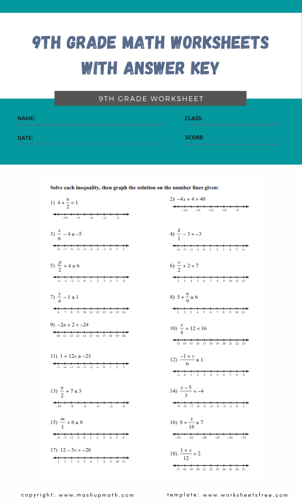 9th-grade-math-worksheets-with-answer-key-9