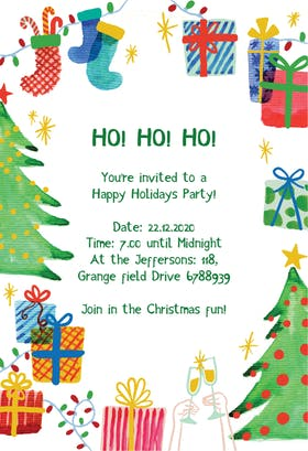 Best Holiday Ever - Christmas Invitation