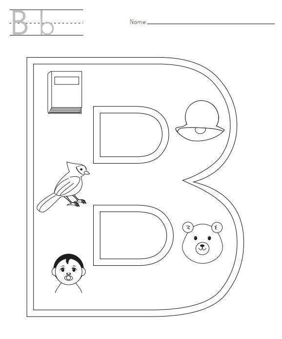 Alphabet Buchstabe B Malvorlagen