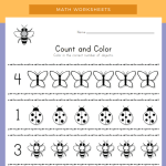 Bug Count and Color Worksheet