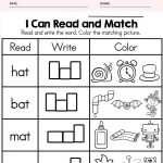 CVC I Can and Match Worksheets