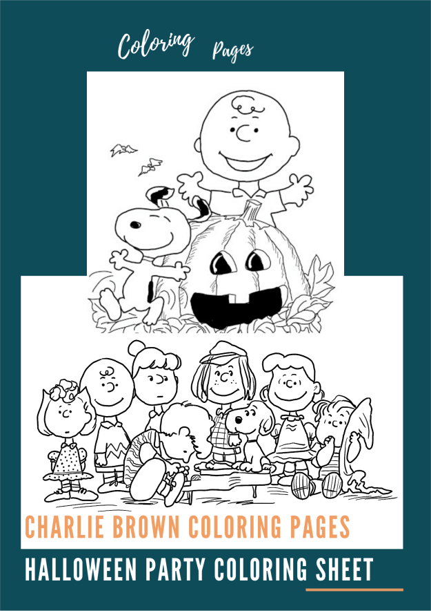 Charlie Brown Coloring Pages Halloween Party Coloring Sheet