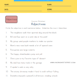 Circle the Adjectives Worksheet 1