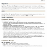 Compliance Manager Resume Sample 5
