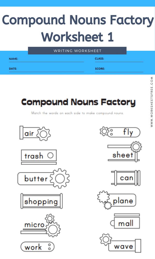 Compound Nouns Factory Worksheet 1