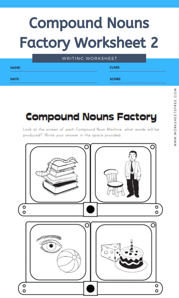 Compound Nouns Factory Worksheet 2