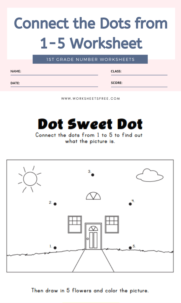 Connect the Dots from 1-5 Worksheet