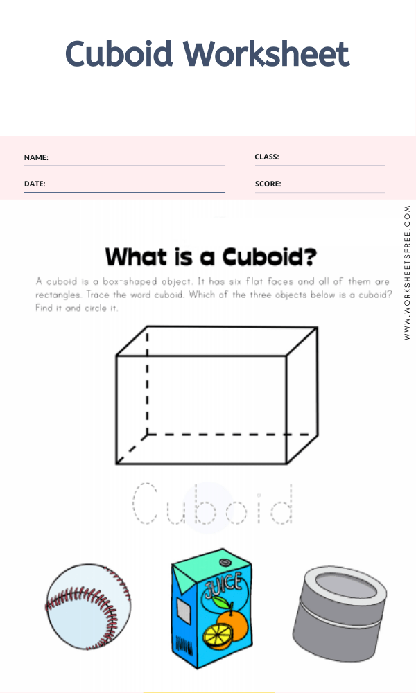 Cuboid Worksheet