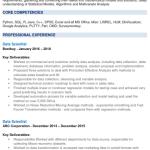 Data Science Fresher Resume Sample 5