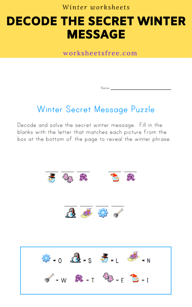 Decode the Secret Winter Message