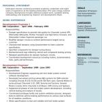 Development Engineer Resume Sample 1