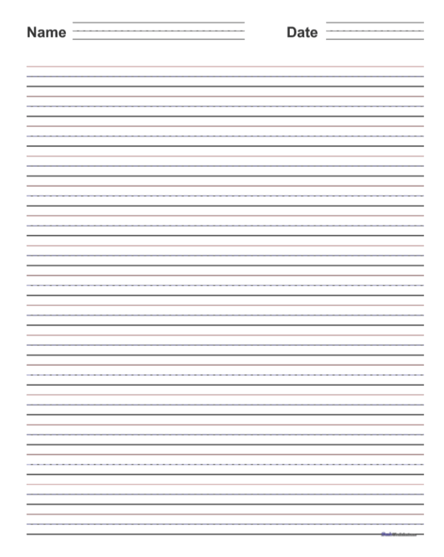 Download Handwriting Paper with Name