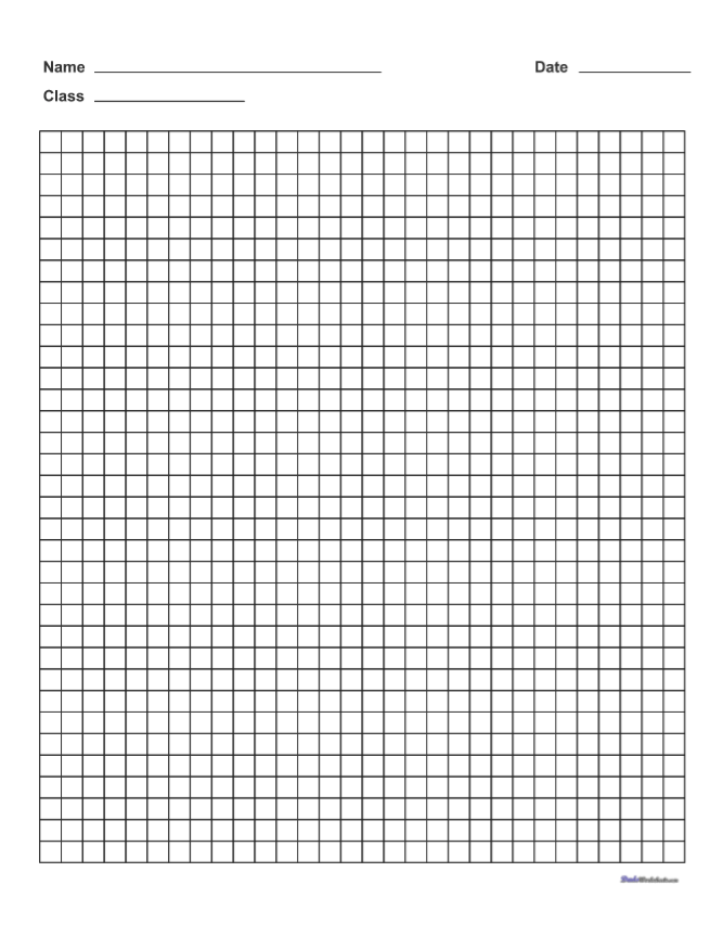 Download Printable Graph Paper with Name Block