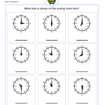Download Telling Analog Time Worksheets Full and Half Hours