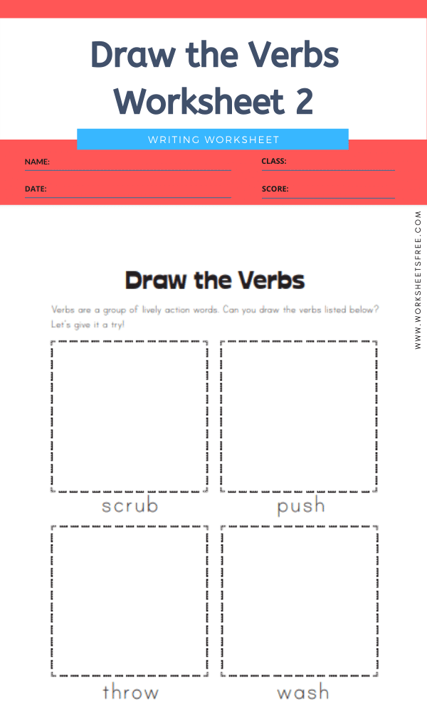 Draw the Verbs Worksheet 2