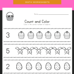 Easter Count and Color Worksheet