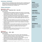 Economist Resume Sample 5