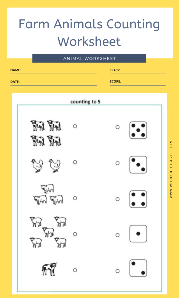Farm Animals Counting Worksheet 2