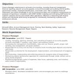 Finance Manager Resume Sample 5