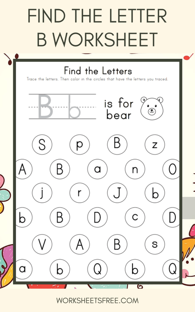 Find the Letter B Worksheet
