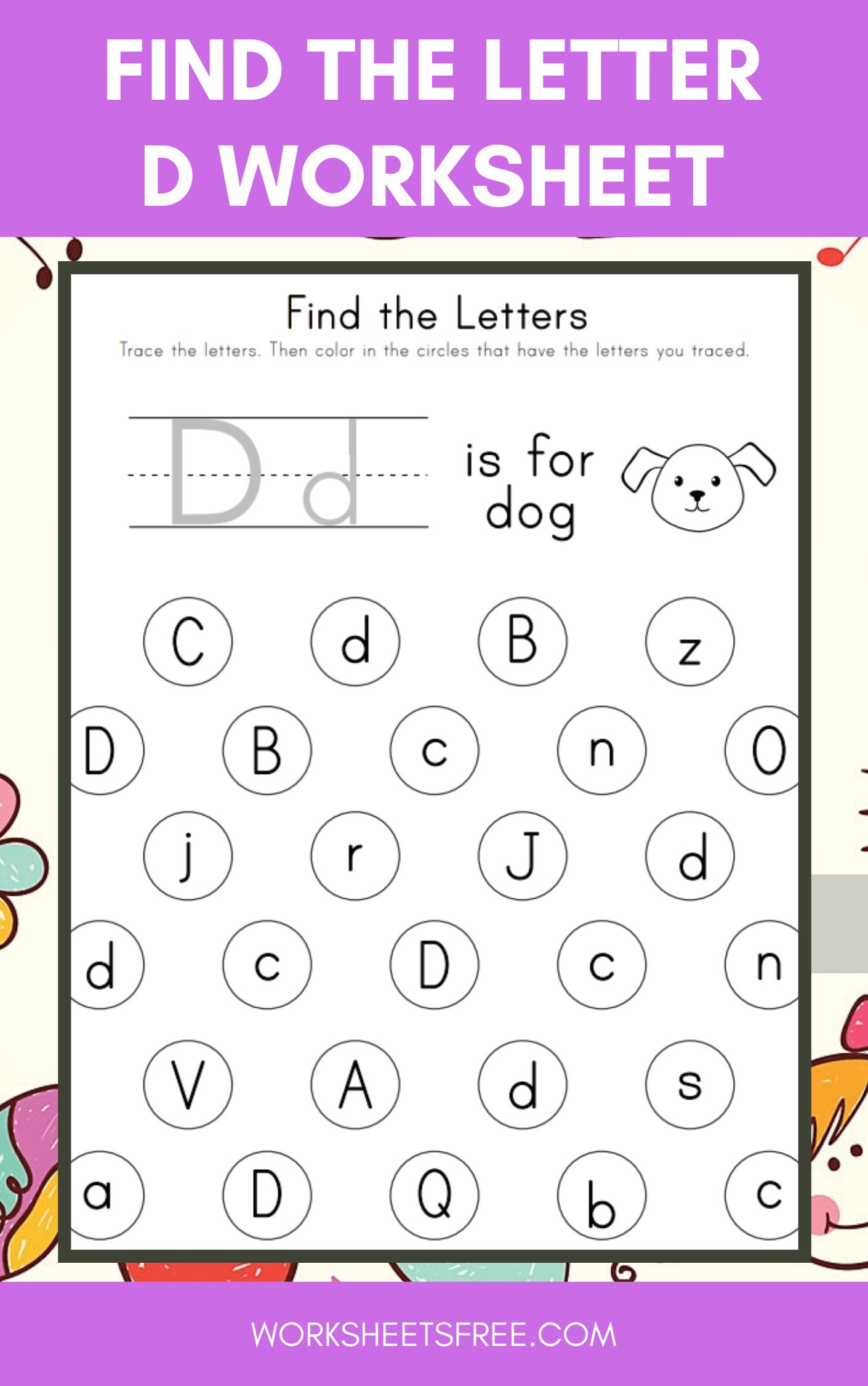 Find The Letter D Worksheet
