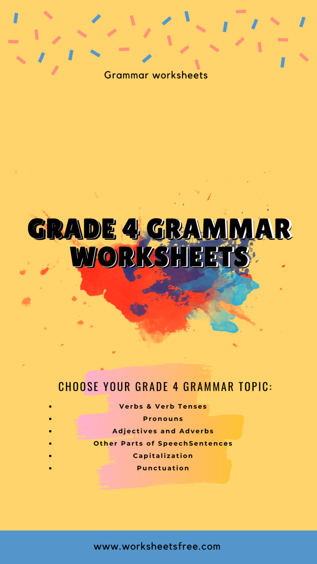 Grade 4 grammar worksheets