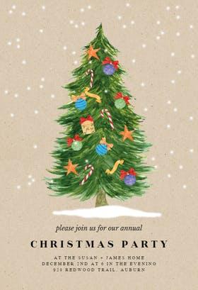Happy tree - Christmas Invitation