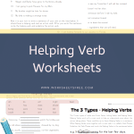 Helping Verb Worksheets