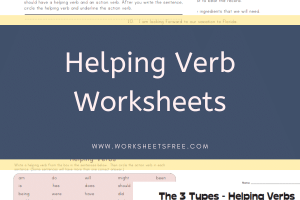 Helping Verb Worksheets
