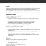Junior Financial Analyst Resume 4