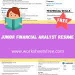 Junior Financial Analyst Resume
