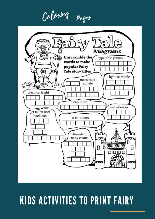 Kids Activities to Print Fairy