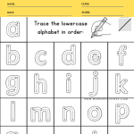 LOWERCASE ALPHABET TRACE
