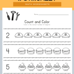 Labor Day Count and Color Worksheet
